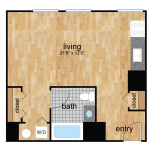 floorplan for Wilmington, DE apartments for rent