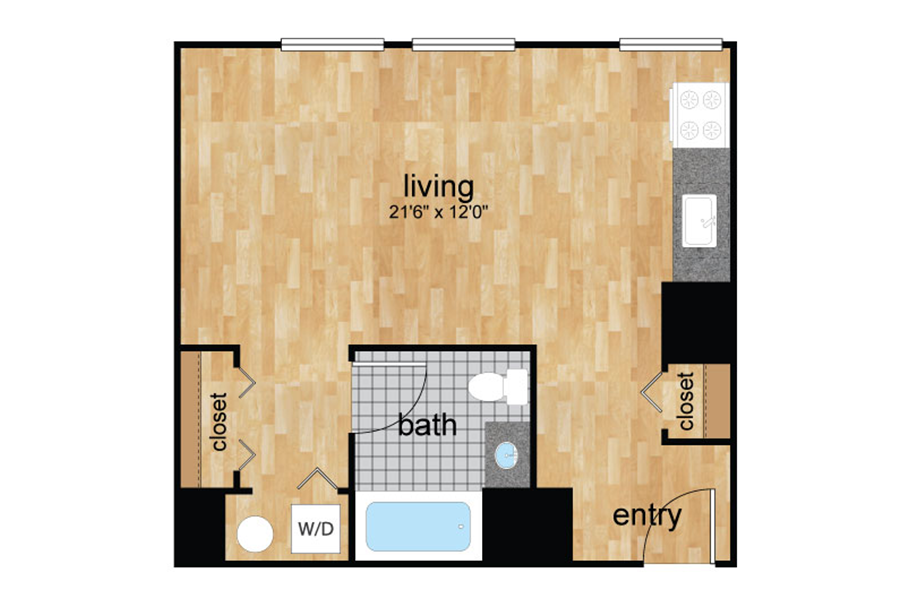 floorplan for Wilmington, DE apartments for rent