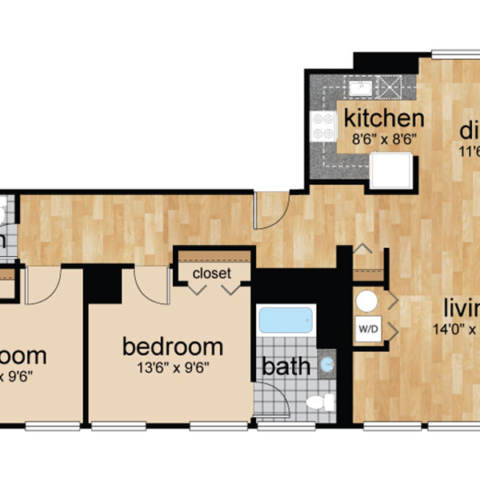 Penthouse floorplan for Wilmington, DE apartments