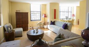 living room of apartment in Wilmington, DE
